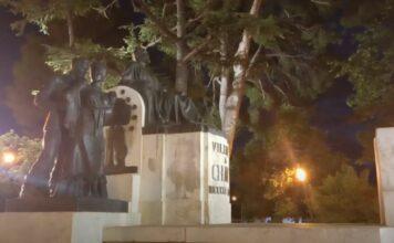 Paseo de Chapí, Villena, por la noche