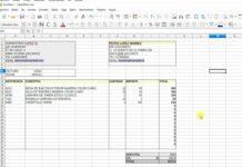 FActuras y presupuestos con hoja de cálculo